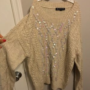 Holiday sweater with pretty detailing